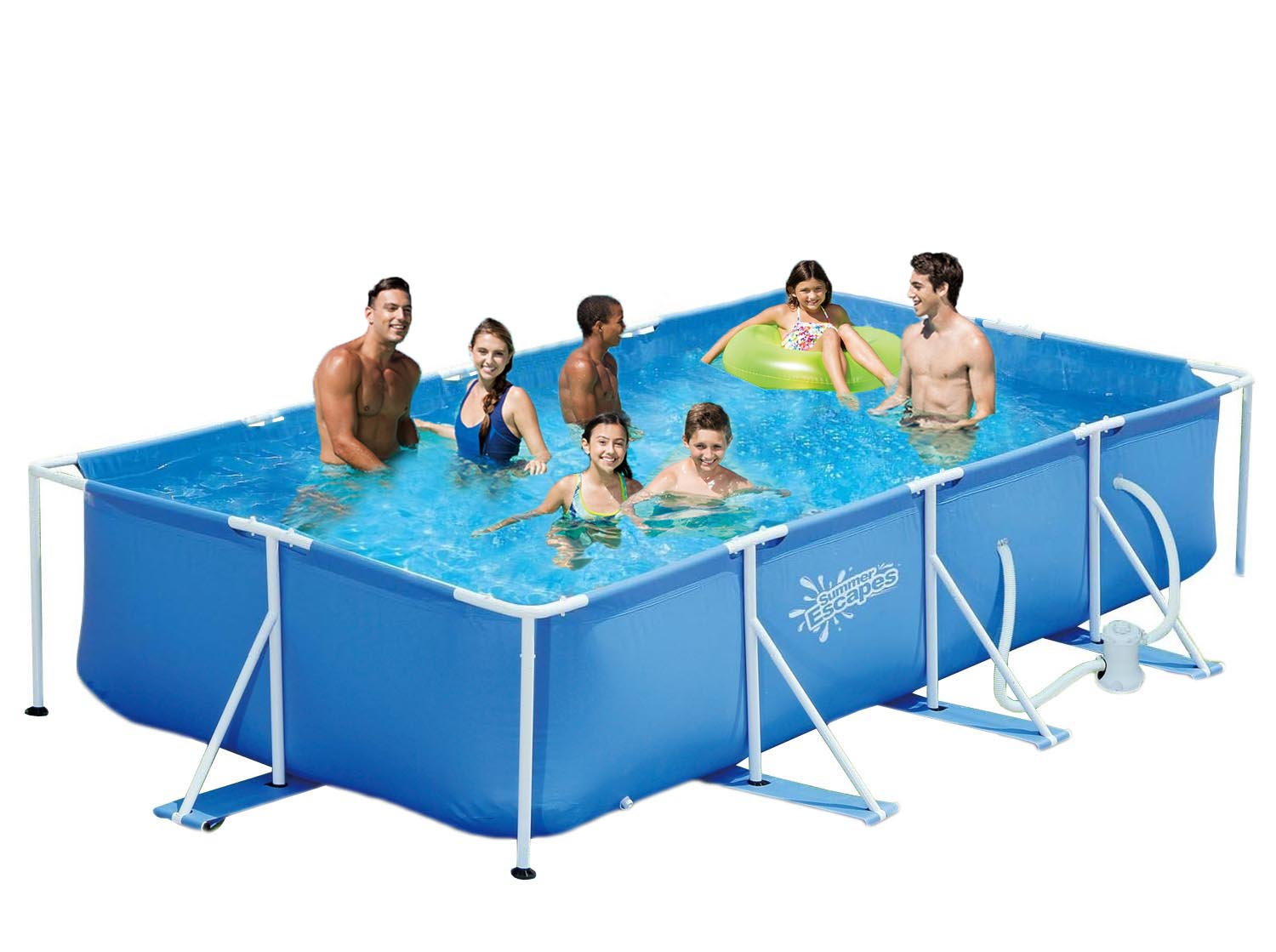 Filterpumpe Pool Entleeren Summer Escapes Frame Pool 427x244x91cm Rahmen Swimming Pool Familien Schwimmbad