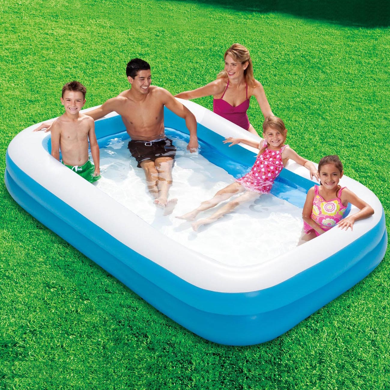 Swimming Pool Reinigungsset Summer Waves Fast Set Quick Up Pool 366x91cm Swimmingpool