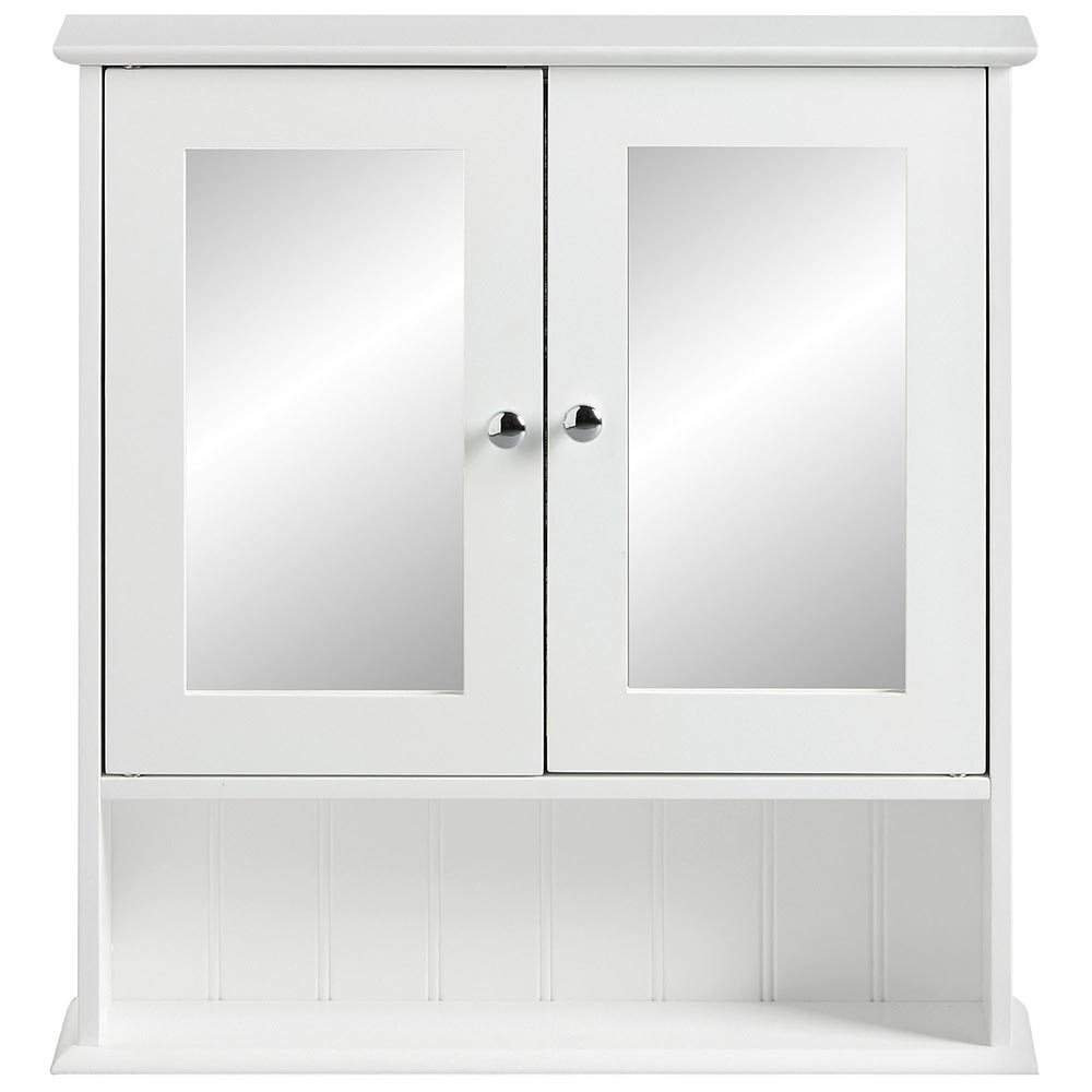Mirrored Bathroom Cupboard White Mirrored Cabinet