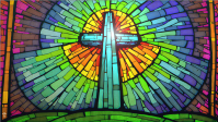 Stained Glass Cross Finished
