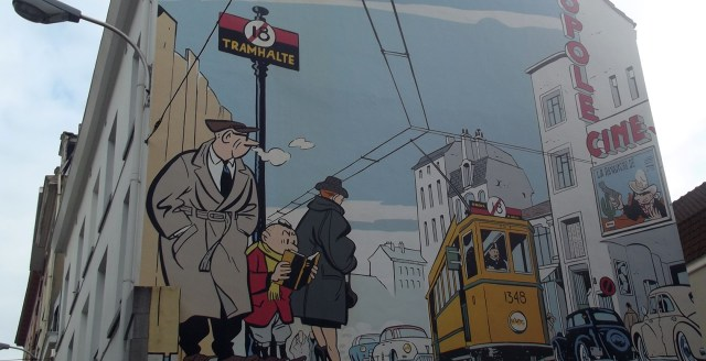 Resultado de imagem para tour a pé de histórias em quadrinhos em bruxelas