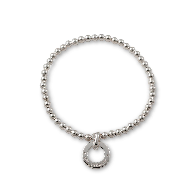 Stretchy Silver Vt Disc Bracelet Von Treskow