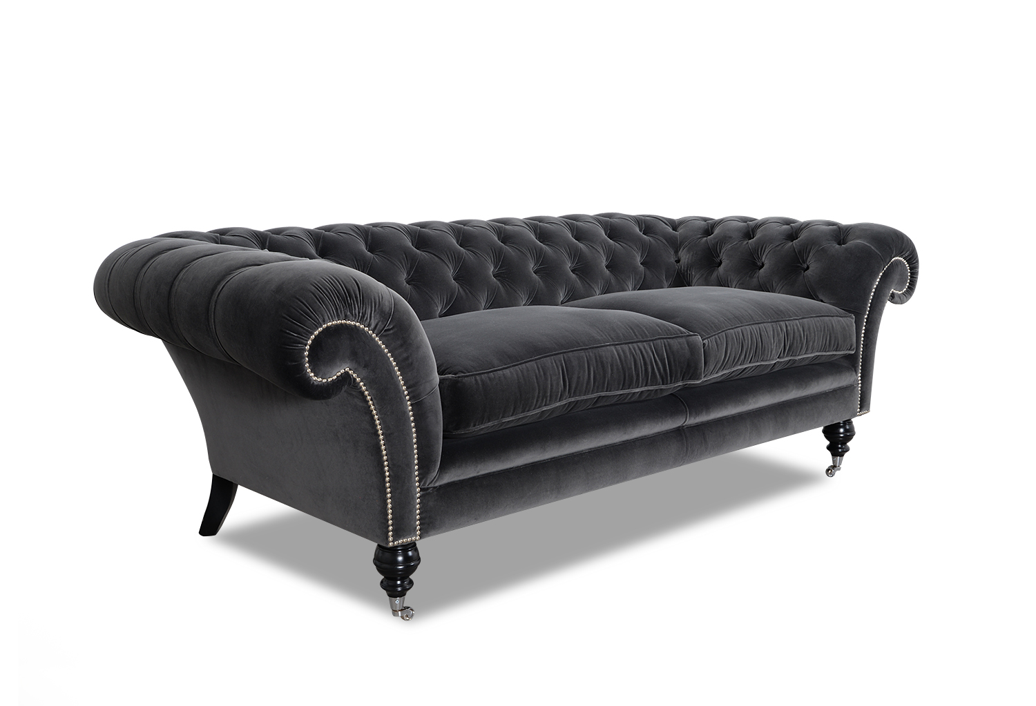 Chesterfield Sessel Samt Anna Chesterfield Sofa Samt 2 Sitzer Chesterfield Sofa Big