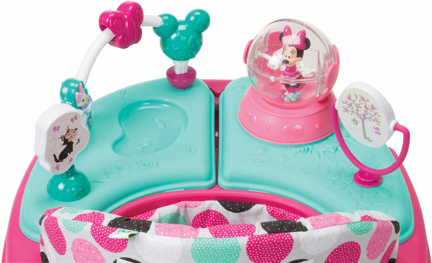 Disney Baby Music Light Walker With Activity Tray For Baby Minnie Dotty Sturdy