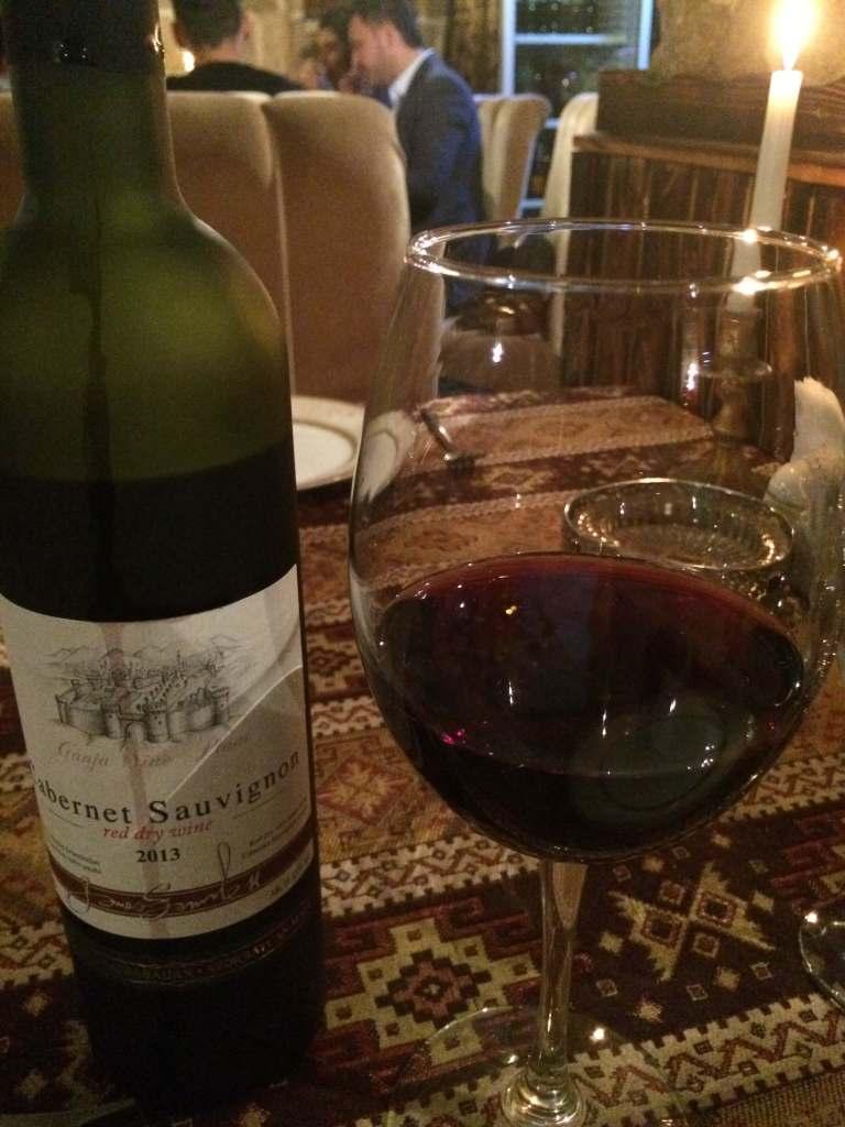 Вино азербайджанское сухое