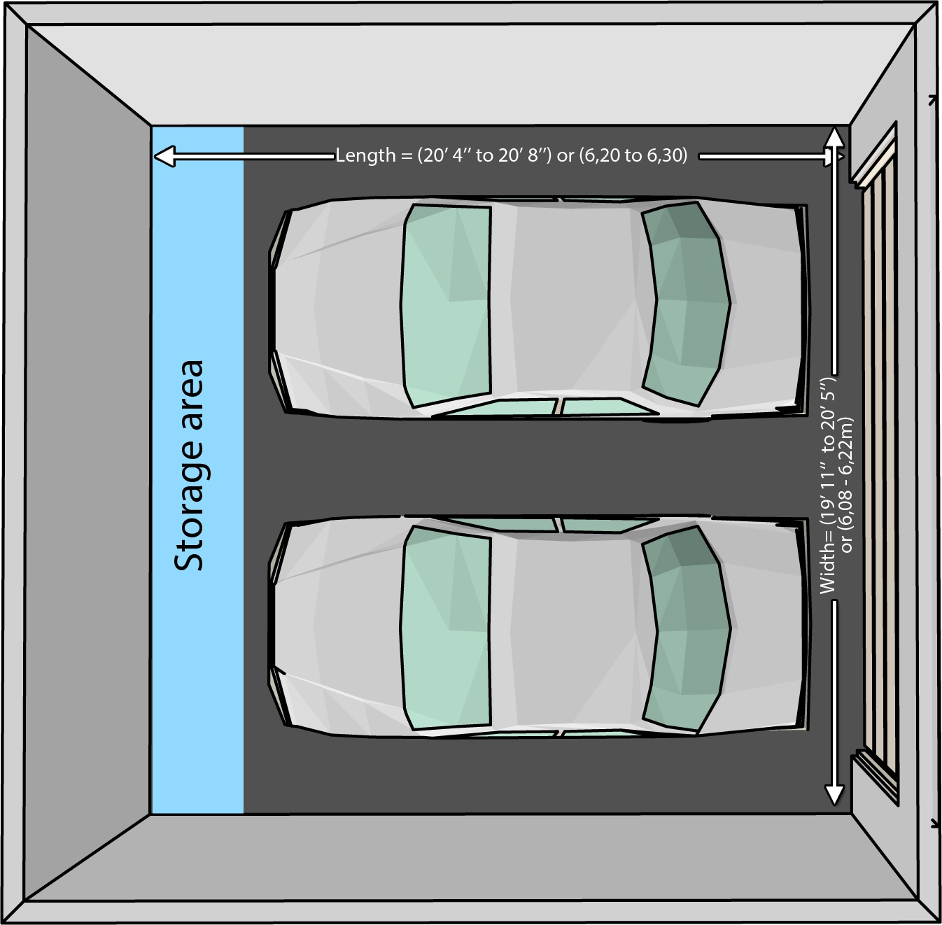 charming dimensions of two car garage 4 terrific size of a 2 car garage best exceptional 2 car garage door size 13