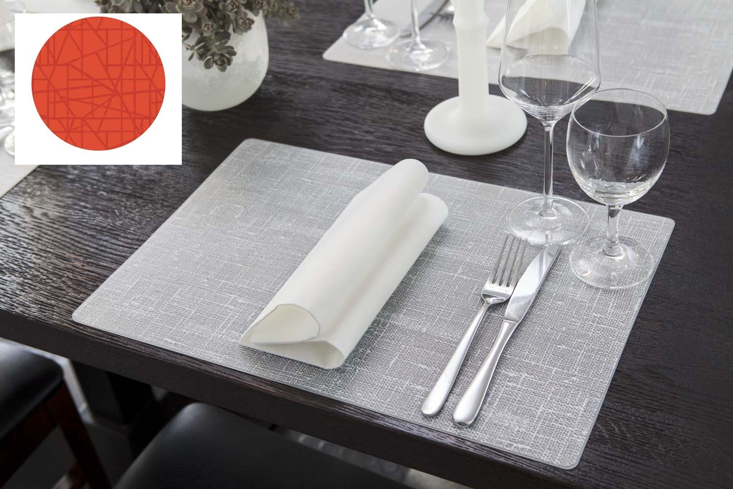 Set De Table Fly Set De Table Silicone Mandarine 30 X 45 Cm Duni Paquet De 6