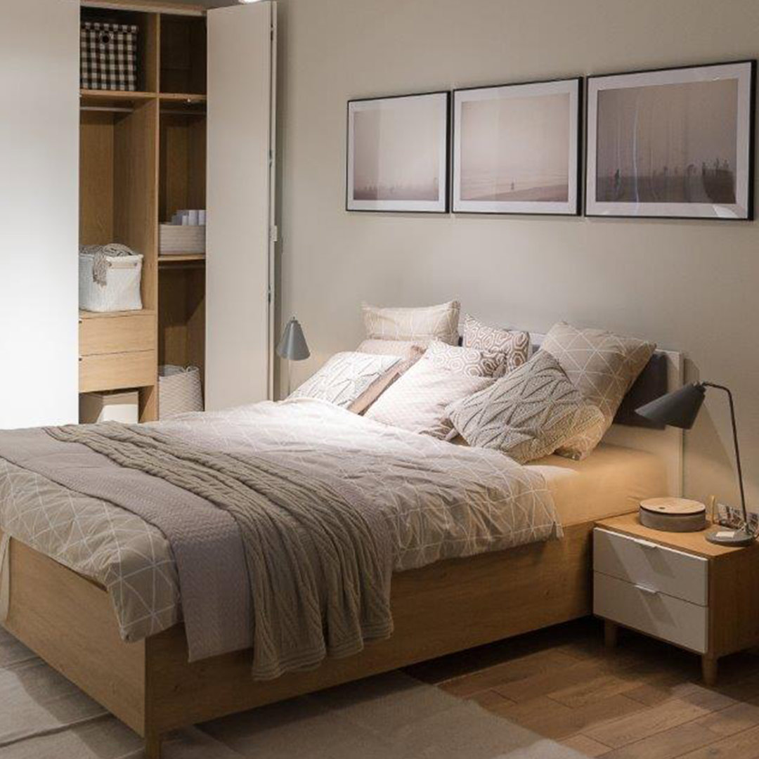 Simple Bed Simple Double Bed Oak Vox Furniture South Africa