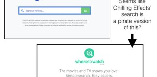 Chilling Effects Piracy Search Engine