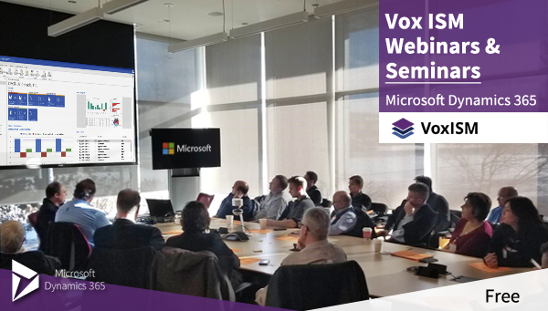Vox ISM free webinars and seminars - first half of 2018 events schedule