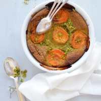 Clafoutis aux abricots et pistaches {sans gluten, sans lactose}