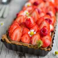Tarte aux fraises (pâte sablée et crème pâtissière IG bas)