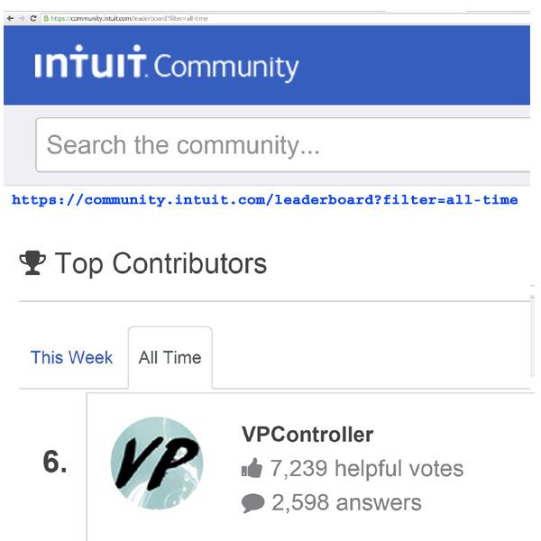 Intuit Community AllStar Contributor