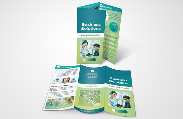 Business Solutions Brochure Template