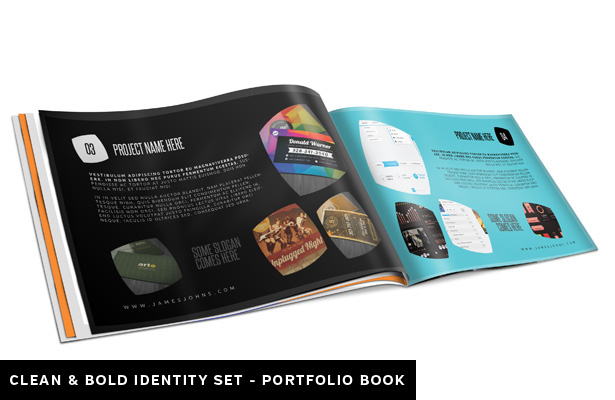Clean and Bold Portfolio Book Template