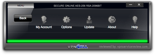 VPN4ALL-menu