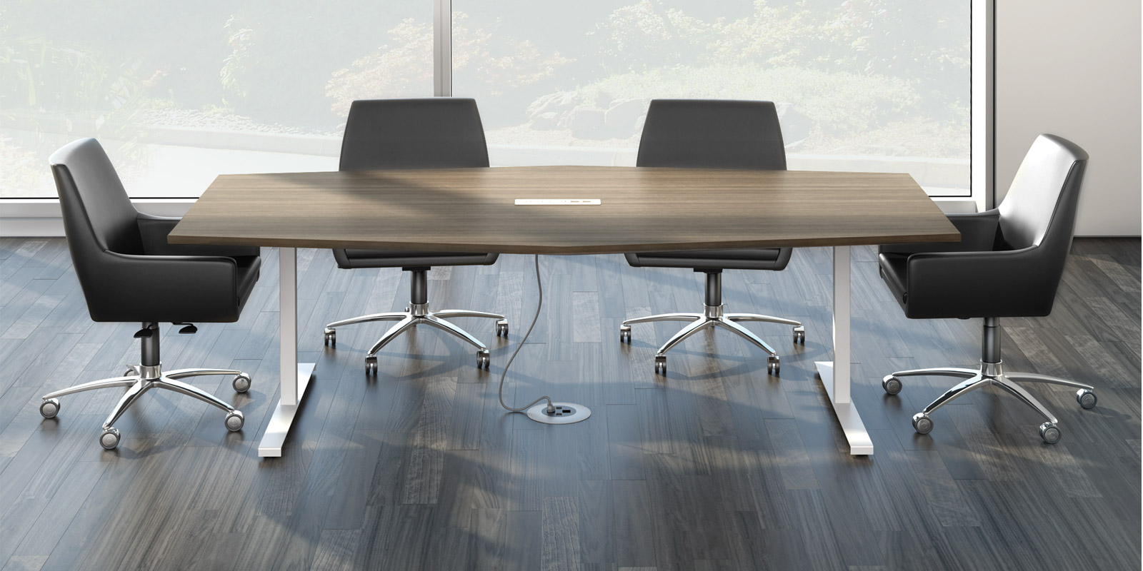 Meeting Room Tables Watson Seven Hexagon Meeting Table 8 X 4