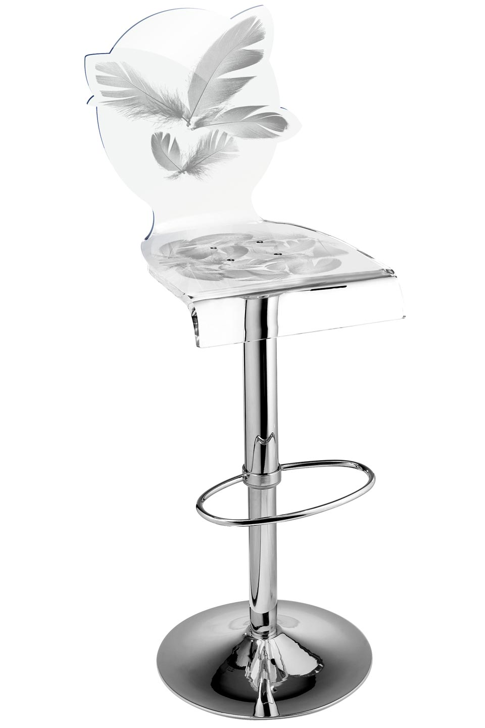 Tabouret De Bar Plastique Transparent Tabouret Bar Plexi Transparent Plexiglas Orange Transparent