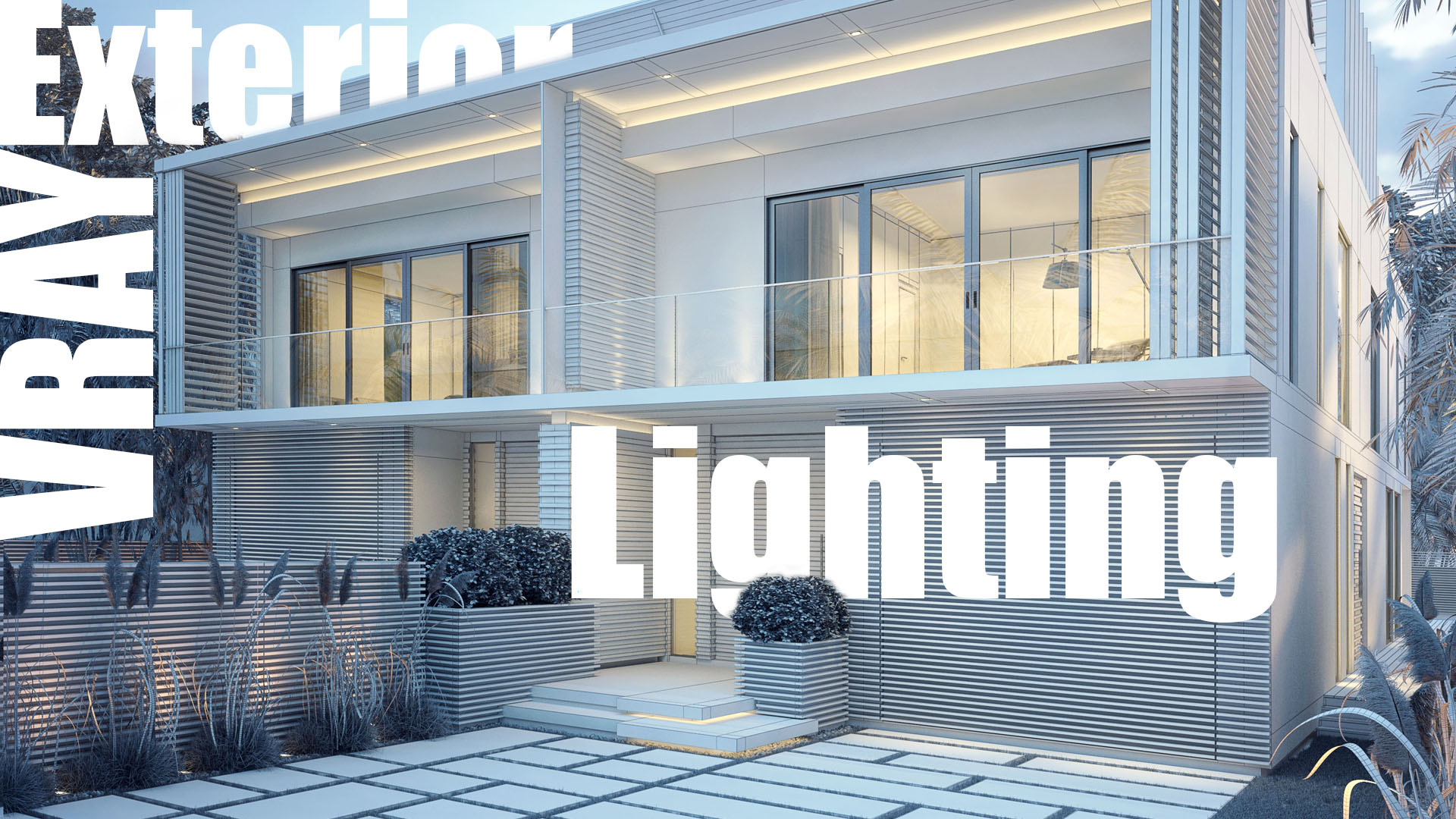 Architektur Rendering Photoshop Vray Exterior Lighting Rendering Video Tutorial