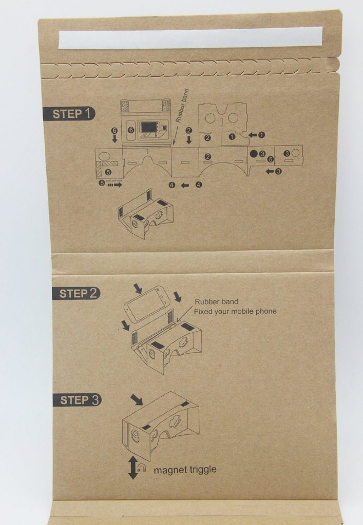 Epple Google Cardboard 3D VR DIY Glasses Assembly