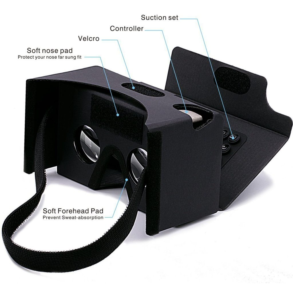 GANA 3D VR Headset Glasses Google Cardboard DIY Box Features
