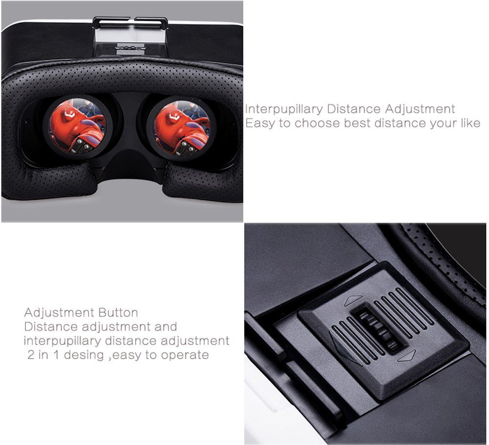 GreatCool 3D VR Headset Glasses Lenses