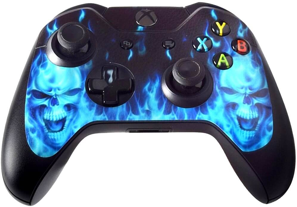 xbox controller skins 3 blues skulls fire ghostrider skin