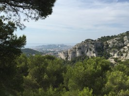 Zicht op Marseille vanuit de calanques