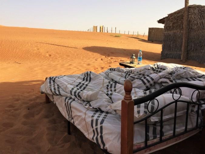 slapen in de wahiba woestijn oman