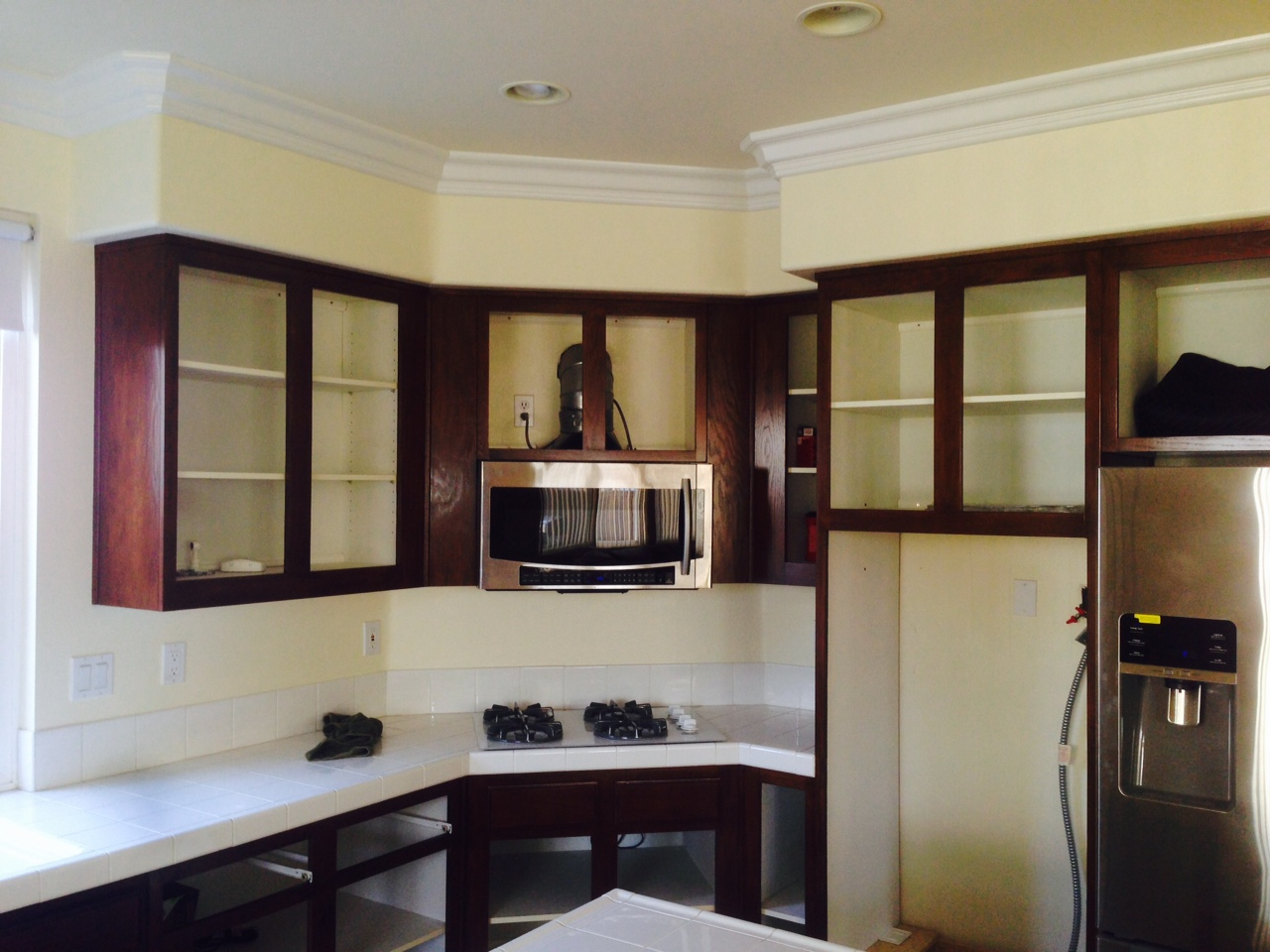 How To Finish Kitchen Cabinets Stain Kitchen Cabinet Refinishing - Vrieling Woodworks - Crown