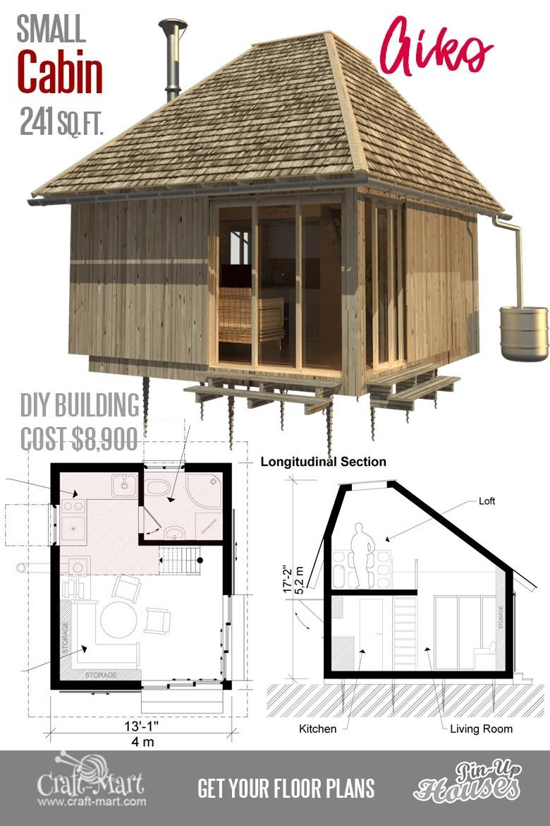 Https Www Vrogue Co Small Cabin Plans Beauteous 16 Cutest Small And Tiny Home Plans With Cost To Build On Small Cabin Plans