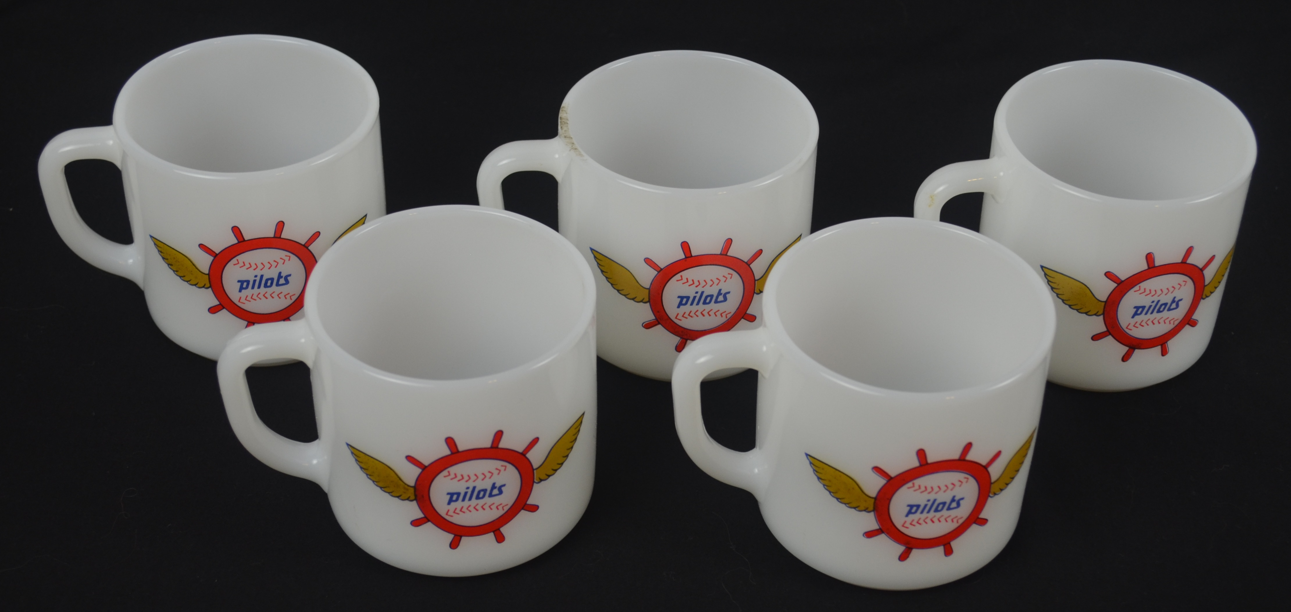 Original Coffee Mugs Lot Detail Seattle Pilots 1969 Collection Of 5 Coffee