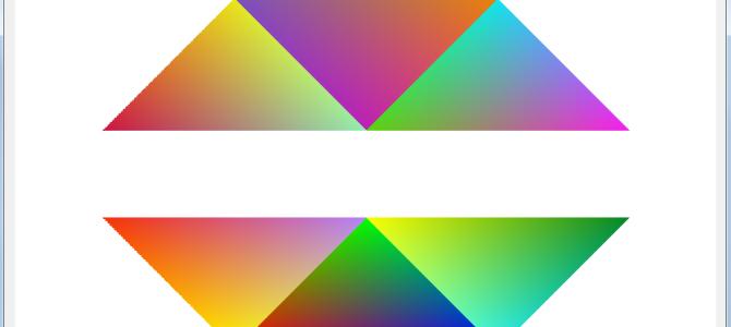 Растеризация треугольников на основе барицентрических координат C#