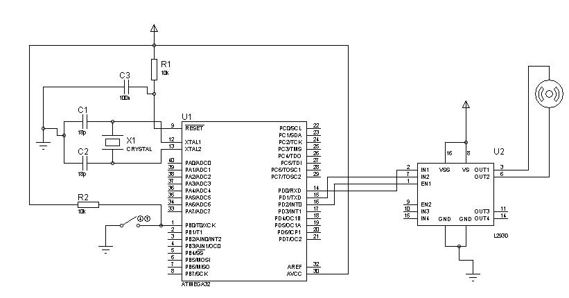interfacing dc motor to 8051