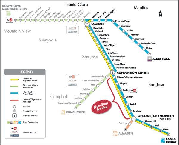 901 Streetcar Route Vta Sf Bay Transit