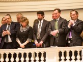 Shumlin administration officials in the House gallery. Photo by Roger Crowley