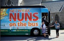 Nuns on the Bus stop in Bennington