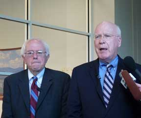 Senators Sanders and Leahy. VTD/Anne Galloway