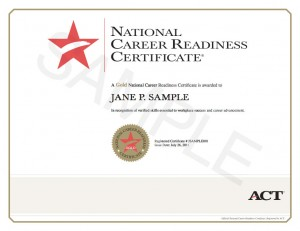 ACT National Career Readiness Certificate