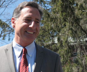 Gov. Peter Shumlin in Waterbury. Photo by Taylor Dobbs