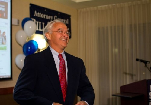 Bill Sorrell, at campaign headquarters. Photo by Nat Rudarakanchana