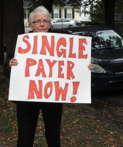 Single payer protester. Photo by Andrew Stein