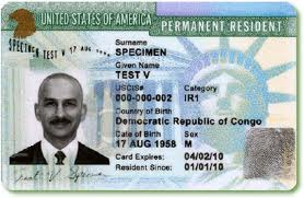 An EB-5 Green Card sample.
