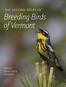 Cover of the Vermont Breeding Bird Atlas.  Image courtesy of Vermont Center for Ecostudies.
