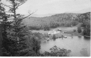 Silver Lake, now known for its solitude, was for decades a popular spot for horses and buggies to reach on a five-mile trail through Leicester Hollow. Early camp revival meetings, with poetry and music, were held for 30 years, with as many as 3000 people attending. Photo courtesy William J. Powers