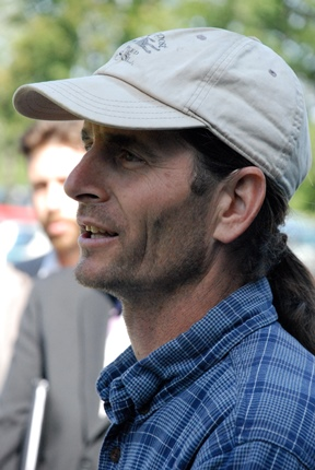 Sen. David Zuckerman, D/P-Chittenden, told how climate change is affecting his farm, Full Moon Farm in Hinesburg. Photo by John Herrick/VTDigger