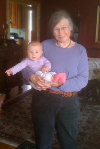 Sally Laughlin and her granddaughter Adeline, taken in 2012. Courtesy of Sally Laughlin