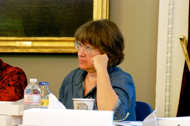 Rep. Cynthia Browning, D-Arlington, who sits on the House Institutions Committee, said she is concerned about a financing plan approved by the Emergency Board for an office building in St. Albans during a House Committee on Corrections and Institutions meeting Friday. Photo by John Herrick/VTDigger