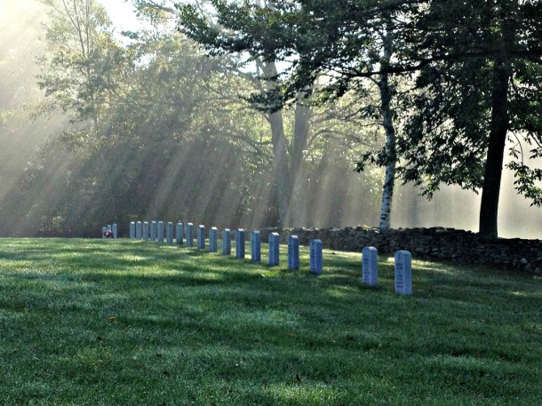 The Vermont Veterans Memorial Cemetery in Randolph is one of the most spectacular veterans cemeteries in the country. Caretaker Bob Durkee says it is not as well known in the state as it should be, but it still attracts a steady stream of visitors who appreciate its stone walls, colorful trees, vistas, rows of markers, bushes, and flowers. Photo courtesy of Robert Durkee.