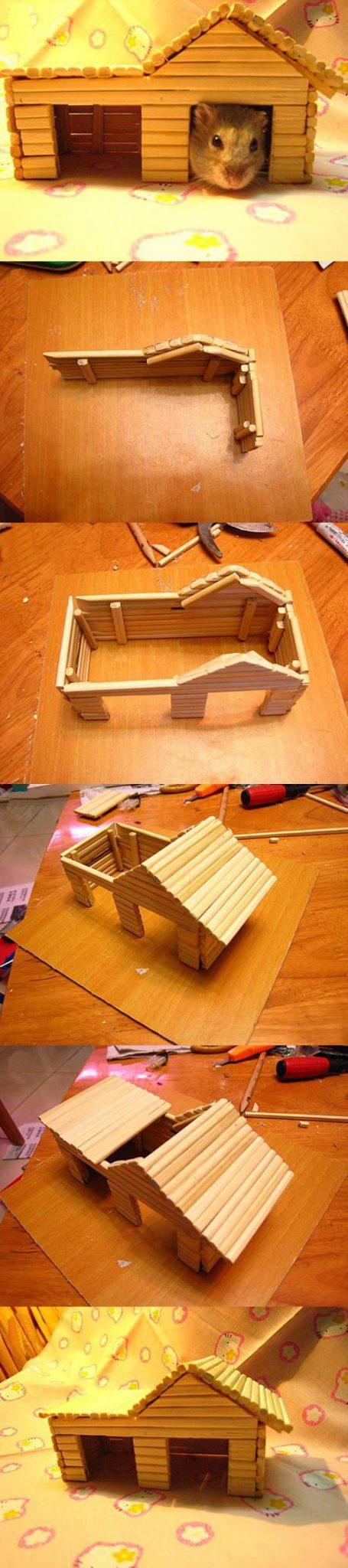 Домик для хомяка фото из картона